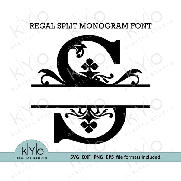 Split Regal Monogram SVG Font-kYoDigitalStudio