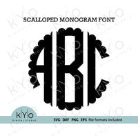 Scalloped Monogram font svg - kYoDigitalStudio