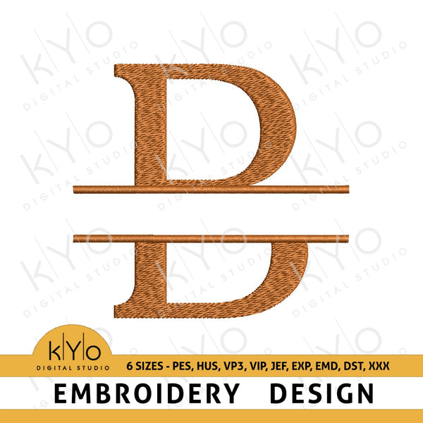 Split Monogram Letter B Embroidery Design-kYoDigitalStudio
