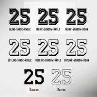 SPORTONUM - Jersey Numbers and Tall Display font