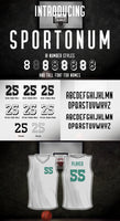 Sport Font - Numbers and Uniform Display Letters