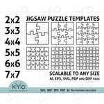 Scalable Jigsaw puzzle templates, Printable Jigsaw puzzle template.