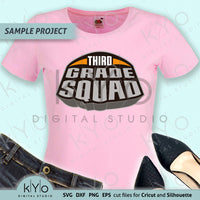 Third Grade Squad Shirt Design Svg Png Dxf File
