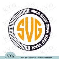 Train Monogram SVG Cut files for Cricut by kyo digital studio