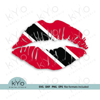Trinidad and Tobago lips flag svg png dxf files shirt design - kYoDigitalStudio