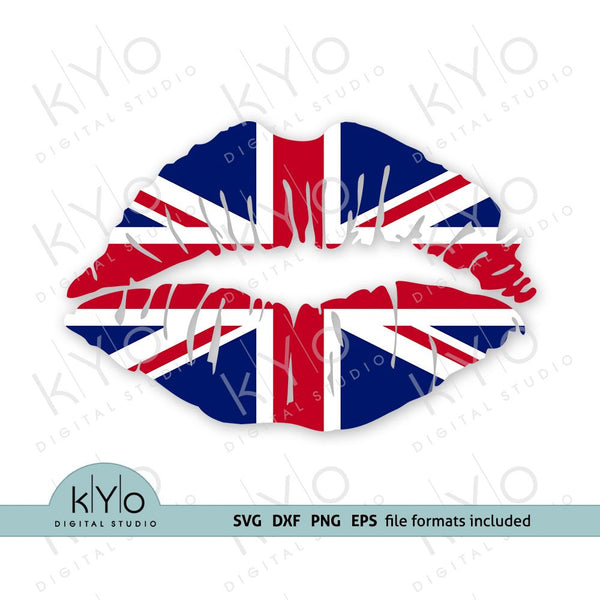 UK Flag lips svg, British Girl shirt design, Union Jack-kYoDigitalStudio