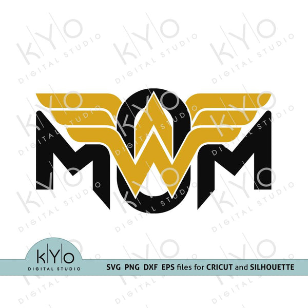 Wonder Woman Mom Svg cut files by kyo digital studio
