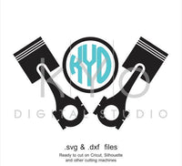 Piston Head car mechanic engine SVG cut file, garage service svg files for Cricut Explore and Silhouette Cameo files-kYoDigitalStudio