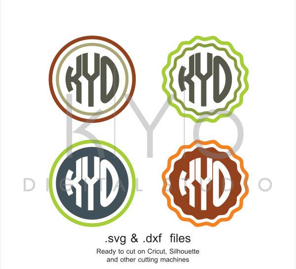 Circle Monogram frames SVG cutting file, Basic circle monogram svg files, svg files for Cricut and Silhouette Cameo files, digital download-kYoDigitalStudio