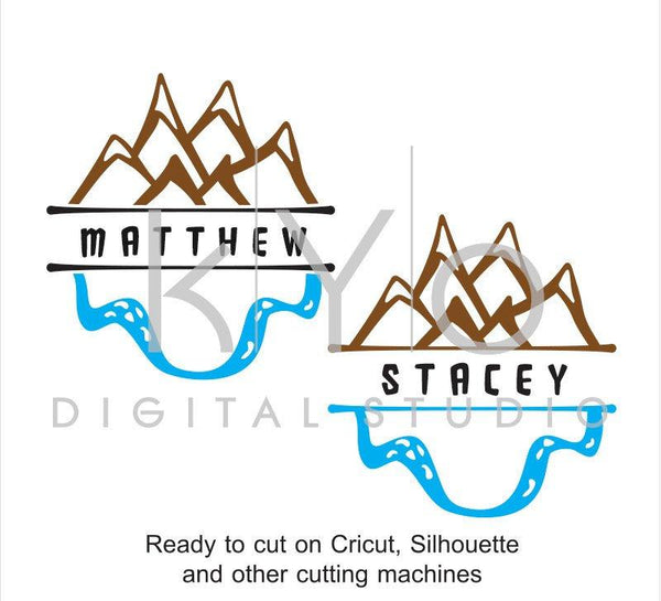 Mountains SVG cut files, Camping svg, Travel svg, Adventure svg, Camping monogram, cuttable svg files for Cricut and Silhouette Cameo #svg-kYoDigitalStudio