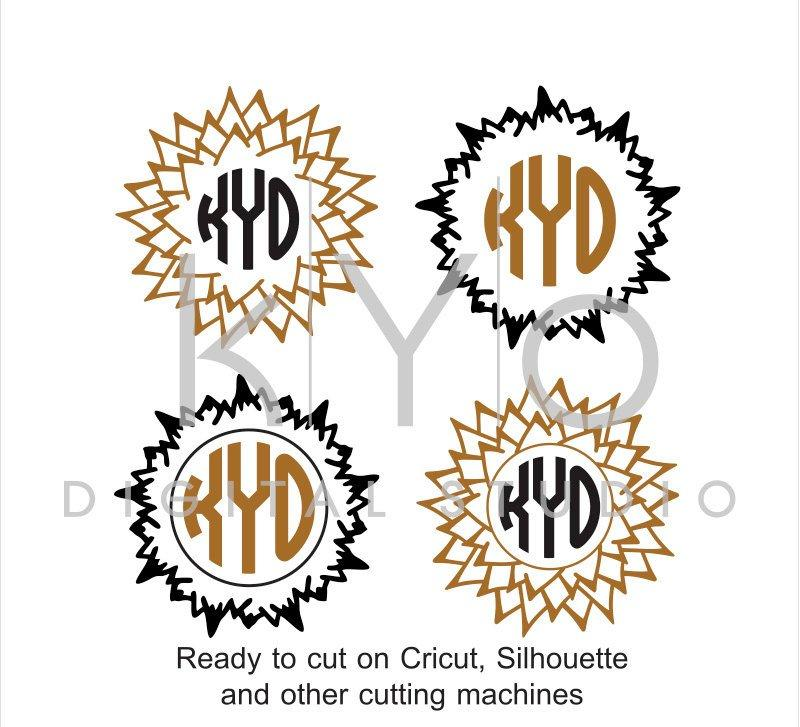Mountains Monogram Frames SVG Cut Files for Cricut and Silhouette