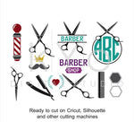 Barber Shop Hair Dresser Salon Hairstylist Scissors svg dxf png eps cut files for cricut explore and silhouette cameo-kYoDigitalStudio