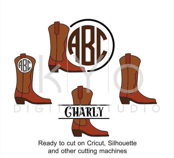Cowboy Boots SVG cut files, Cowboy svg, Cowgirl Boots SVG, Western SVG, Farm girl svg, Country Music svg cut files for Cricut and Silhouette-kYoDigitalStudio