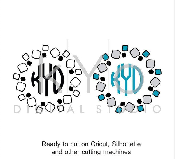 Stone SVG cut files, Square Tiles svg, Stone Monogram Frame svg, Circle Monogram frame, cricut expolre air, silhouette cameo, svg files-kYoDigitalStudio
