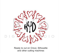 Love SVG cut files, Love heart SVG, Valentines day SVG, Love lettering cut files, hand lettered svg files for Cricut and Silhouette by kYoDigitalStudio