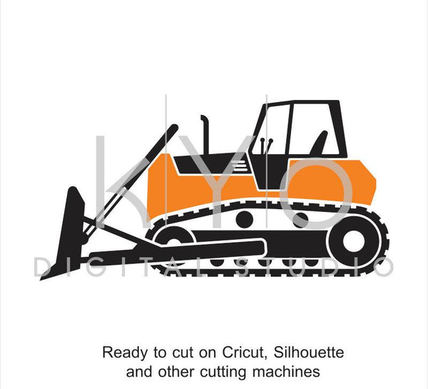 Construction SVG, Transportation SVG, Digger svg, Bulldozer SVG, Transport svg, tractor svg - kYoDigitalStudio