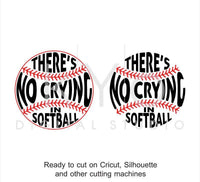 Softball SVG cut files, There Is No Crying In Softball svg, Softball stitches svg, svg cut files for Cricut and Silhouette-kYoDigitalStudio