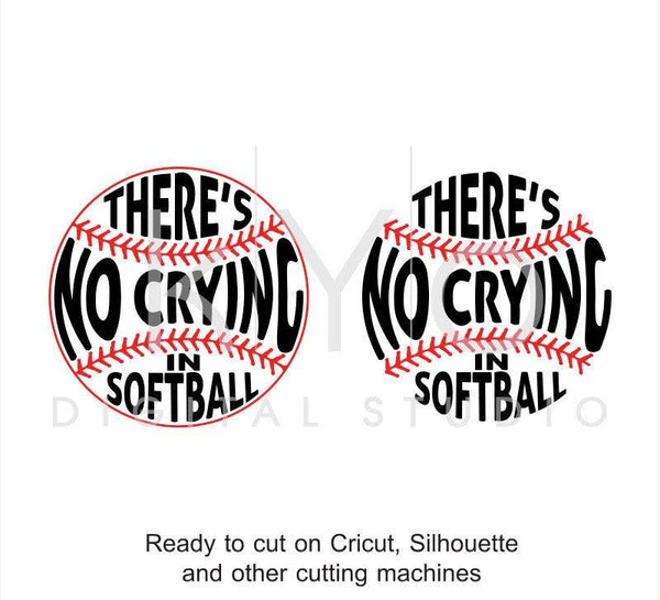 There Is No Crying In Softball svg png dxf eps file bundle-kYoDigitalStudio