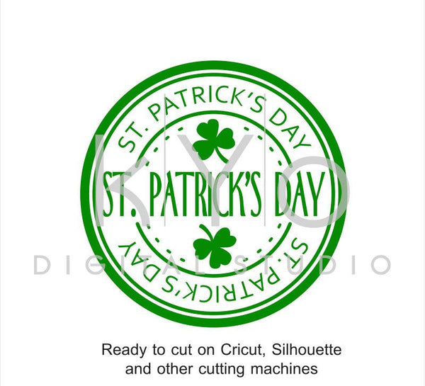St Patrick Day svg cut print files, St. Patricks Day stamp, Clover svg, Shamrock svg cuttable svg files for Cricut and Silhouette #svg-kYoDigitalStudio