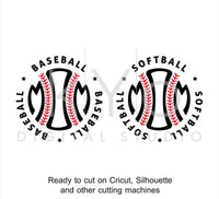 Baseball Softball Mom Stitches Monogram SVG dxf png eps cut files for Cricut and Silhouette-kYoDigitalStudio