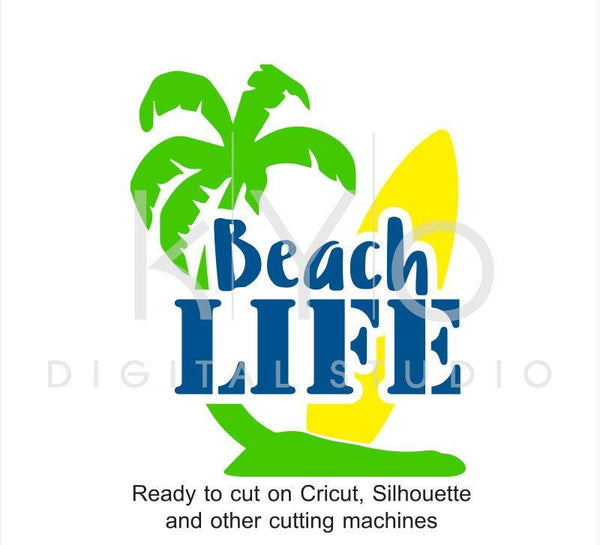Beach Life SVG, Surf SVG, Surfboard svg, Palm tree svg, Soccer Life svg, Surfer Life svg, surfing svg files for Cricut Silhouette-kYoDigitalStudio