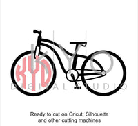 Bicycle SVG file, Bike svg, Circle Monogram svg, Cycling svg, Vintage bike svg, cuttable svg files for Cricut and Silhouette Cameo #svg-kYoDigitalStudio