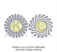 Sun SVG files for Cricut Abstract svg Circle monogram frame svg greek pattern svg Silhouette Cameo files #svgfilesforcricut-kYoDigitalStudio