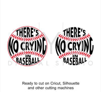 Baseball SVG cut files, There Is No Crying In Baseball svg, Baseball stitches svg, svg cut files for Cricut and Silhouette-kYoDigitalStudio