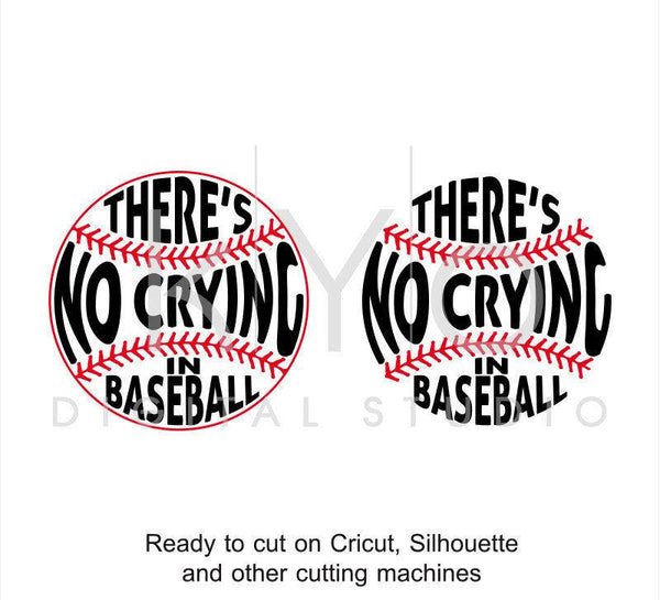 There Is No Crying In Baseball svg png dxf eps files bundle-kYoDigitalStudio