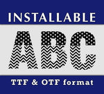 American US Flag Pattern Installable True Type fonts for Cricut Silhouette, TTF Fonts, OTF Fonts-kYoDigitalStudio
