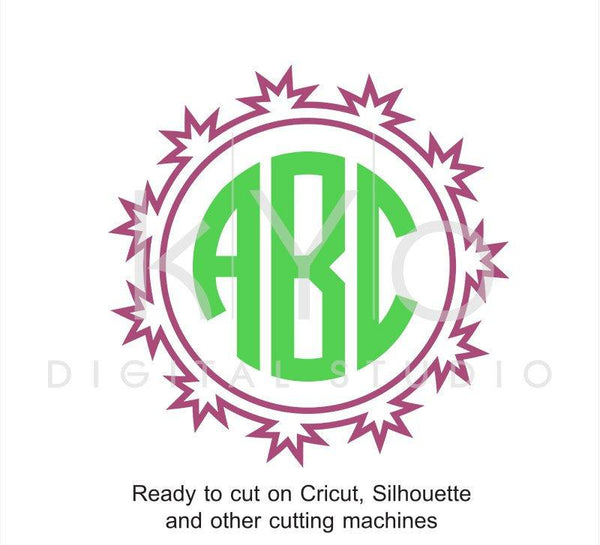Circle Monogram Frame SVG files for Cricut Explore Silhouette Cameo-kYoDigitalStudio