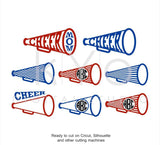 Cheer Leader Megaphone SVG DXF PNG, Cheer Svg, Cheer Monogram frame svg files for Cricut Explore and Silhouette Cameo Cheer leader svg-kYoDigitalStudio