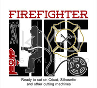 Firefighters Firemen Life SVG files for Cricut Silhouette Brother Scan N Cut-kYoDigitalStudio