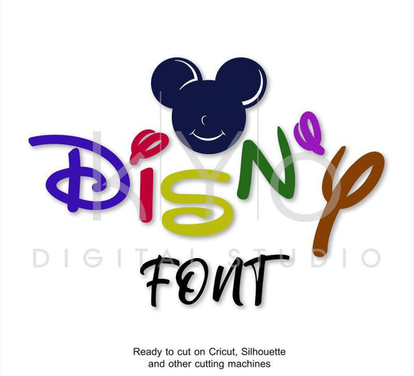 Disney font SVG Alphabet Letters Bundle cut files for Cricut Design Space Silhouette Studio Brother Scan N Cut, digital vector font-kYoDigitalStudio