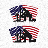 Fallen Soldier Svg American flag svg Veteran Day svg US Flag Military svg files for Cricut Silhouette Distressed svg Grunge svg-kYoDigitalStudio