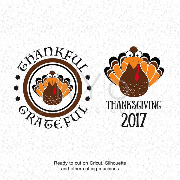 Thanksgiving SVG files Turkey SVG Turkey PNG Clipart Thanks Giving svg files Thankful Grateful svg files for Cricut and Silhouette-kYoDigitalStudio