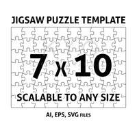 Jigsaw Puzzle Template AI EPS SVG dxf files, Jigsaw Puzzle svg, Scalable puzzle template, printable puzzle template-kYoDigitalStudio