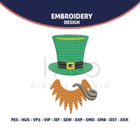 St Patricks Day Embroidery design, Leprechaun embroidery design HUS JEF VP3 PES embroidery files designs machine embroidery monogram frame-kYoDigitalStudio