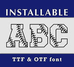 Baseball Stitches pattern True Type TTF font letters-kYoDigitalStudio