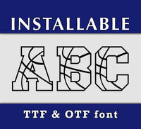 Basketball Ball pattern True Type TTF Font-kYoDigitalStudio
