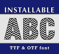 Chevron Pattern True Type Font - TTF and OTF formats-kYoDigitalStudio