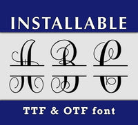 Split Vine True Type Monogram font in TTF and OTF format-kYoDigitalStudio