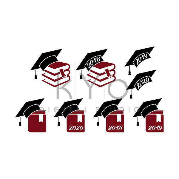 Graduation svg files for Cricut Silhouette, Mortarboard SVG PNG files, Graduation 2018 2019 2020 svg files, Graduation cap hat svg-kYoDigitalStudio