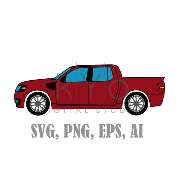 Modern Pickup Truck SVG files, Ford Pickup truck Svg files, car svg, transport svg, pickup svg,-kYoDigitalStudio