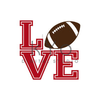 Football Love Tshirt design SVG PNG files, LOVE Football svg, American Football Sport svg png files for Cricut Explore and Silhouette-kYoDigitalStudio