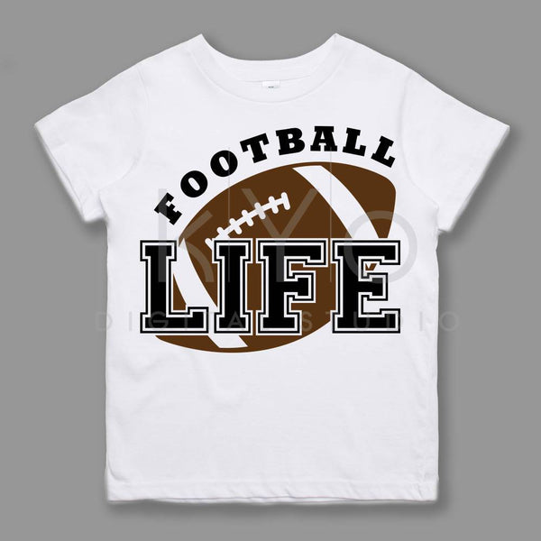 Football SVG Football Life svg American Football svg NFL League Sport svg files for Cricut Silhouette files Kids tshirt design svg Love svg-kYoDigitalStudio