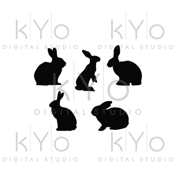 Bunny Svg Rabbit svg Easter bunny Svg Animal Silhouettes SVG PNG Studio3 dxf Love svg Easter bunny silhouette Commercial use svg for cricut-kYoDigitalStudio