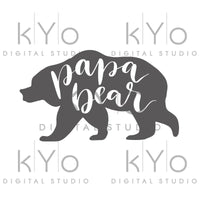 Papa Bear svg cut files Papa Bear clipart PNG Bear Silhouette svg design cut file Studio3 dxf Love svg svg cut files for Cricut Silhouette-kYoDigitalStudio