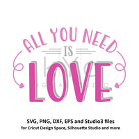 All You Need Is Love SVG file for Cricut Valentines day svg Arrow svg Arrow Monogram svg cut files for Silhouette files commercial use svg-kYoDigitalStudio