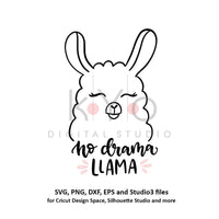 No Drama Llama svg files for Cricut No Drama svg Cool llama Clip art png svg cut files for Silhouette files commercial use svg funny svg-kYoDigitalStudio
